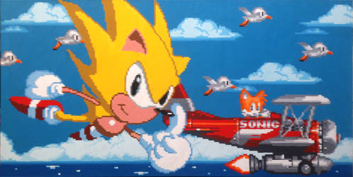 Super Sonic and Tails Take Flight