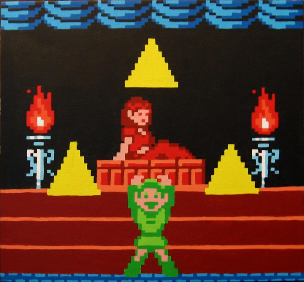 Waking Zelda by Squarepainter