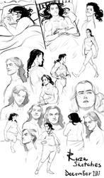 sketches december 2017 by ruza by RuzaMors
