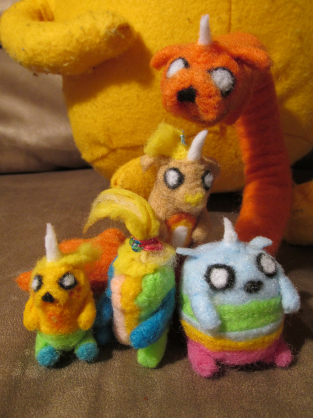 Needle Felted Pups by The-Rebexorcist