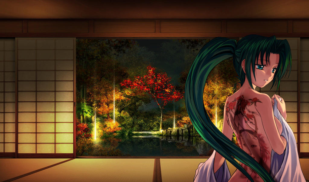 anime screen door wallpaper by magnanimouse on deviantart