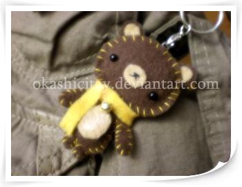 Bear Keychain by okashicitay