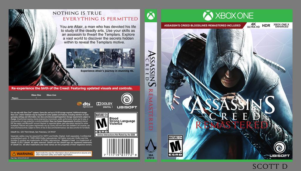 Xbox One Box Art Assassin's Creed Remas...