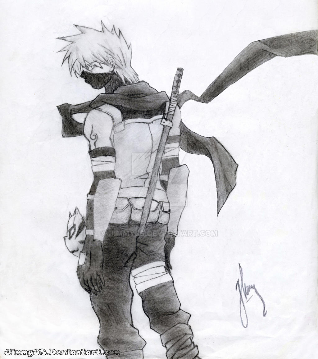 how to draw kakashi hatake full body