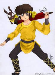 Ryoga Hibiki From Ranma 1/2 Coloured Anime by JimmyJS