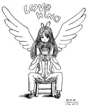 Naru and Keitaro - Love Hina