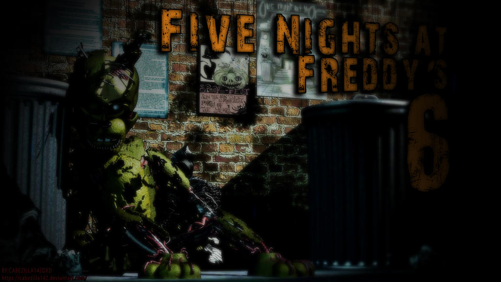 FNAF 6 Springtrap Wallpaper By CABEZILLA142
