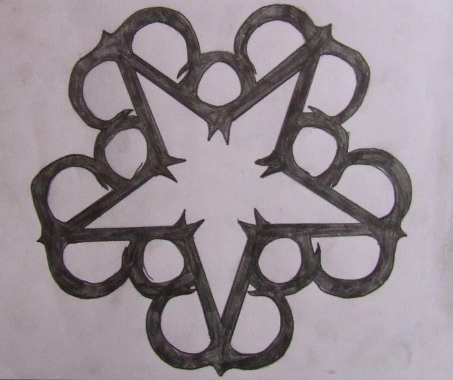 Black Veil Brides Star Logo (Pencil) by DeathByScreams