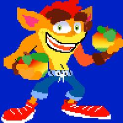 Crash bandicoot 4 holding wumpa fruits