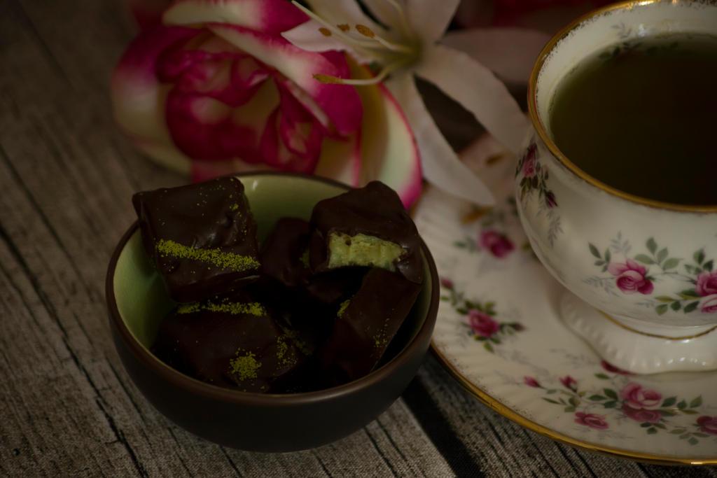 Matcha chocolates by Icedrop21