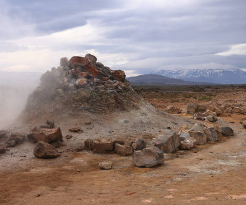 Entrance to Hell Namafjall Hverir Iceland