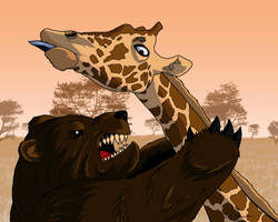 Bear vs Giraffe by Timetower