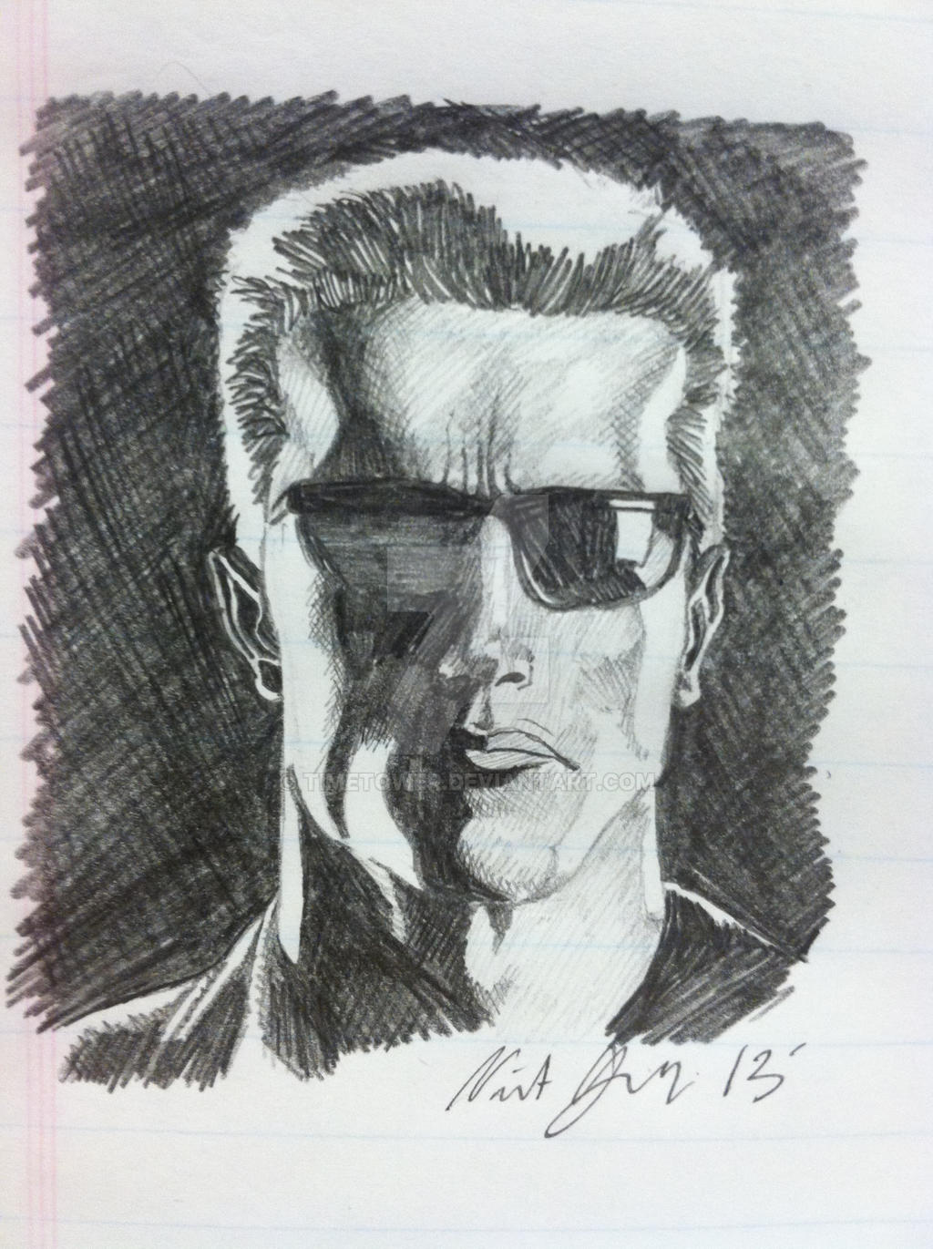 Terminator Sketch by Timetower