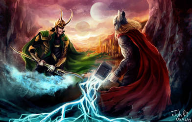 Loki and Thor by Juneru