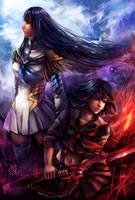 Ryuko and Satsuki by Juneru
