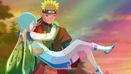 Commission: Naruto and Eureka by airnaxela