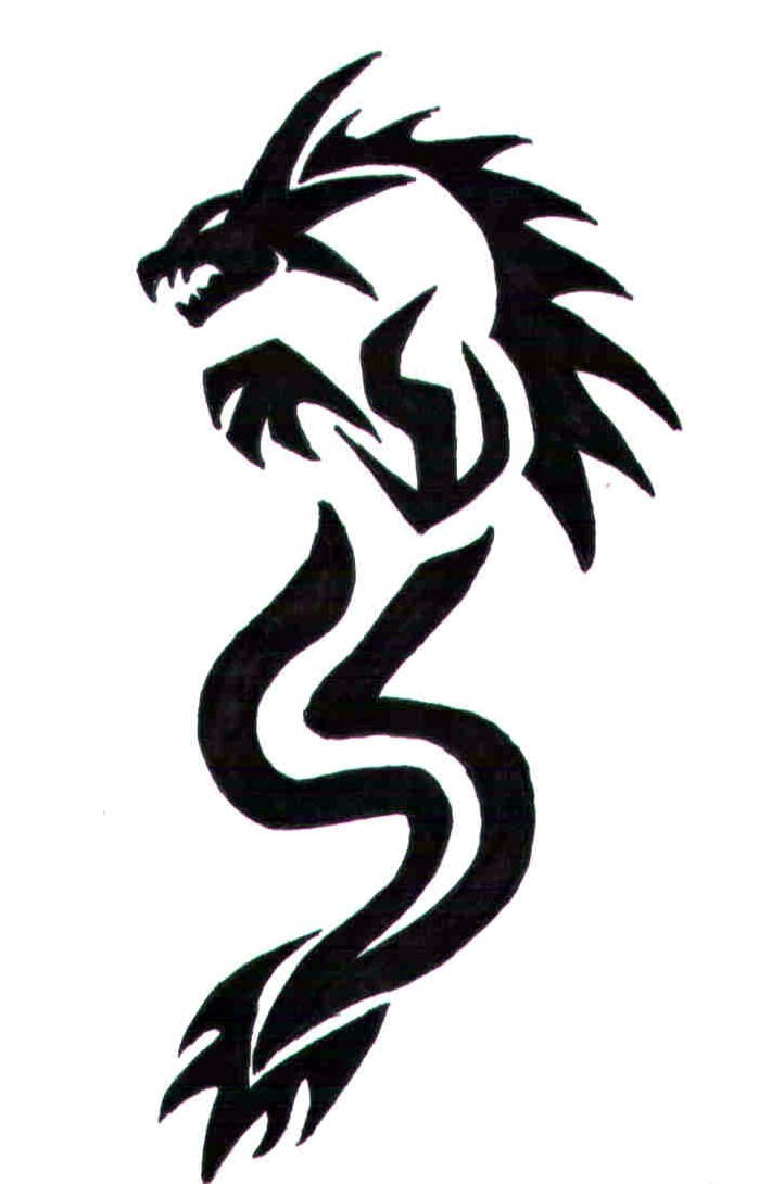 tribal dragon tattoo by lxlonyxdragonlxl on deviantart rh deviantart com simple dragon tattoo drawing simple dragon tattoos designs
