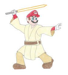 Mario the Jedi Master