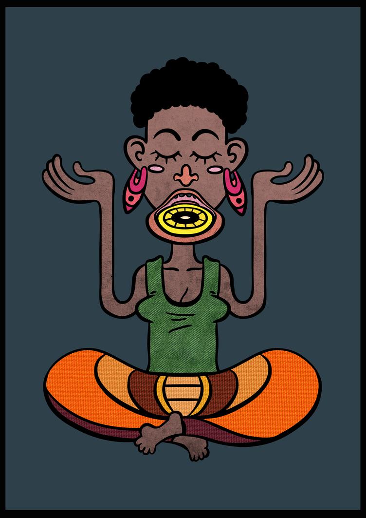 Yoga Lady by MagicMushroomStudio