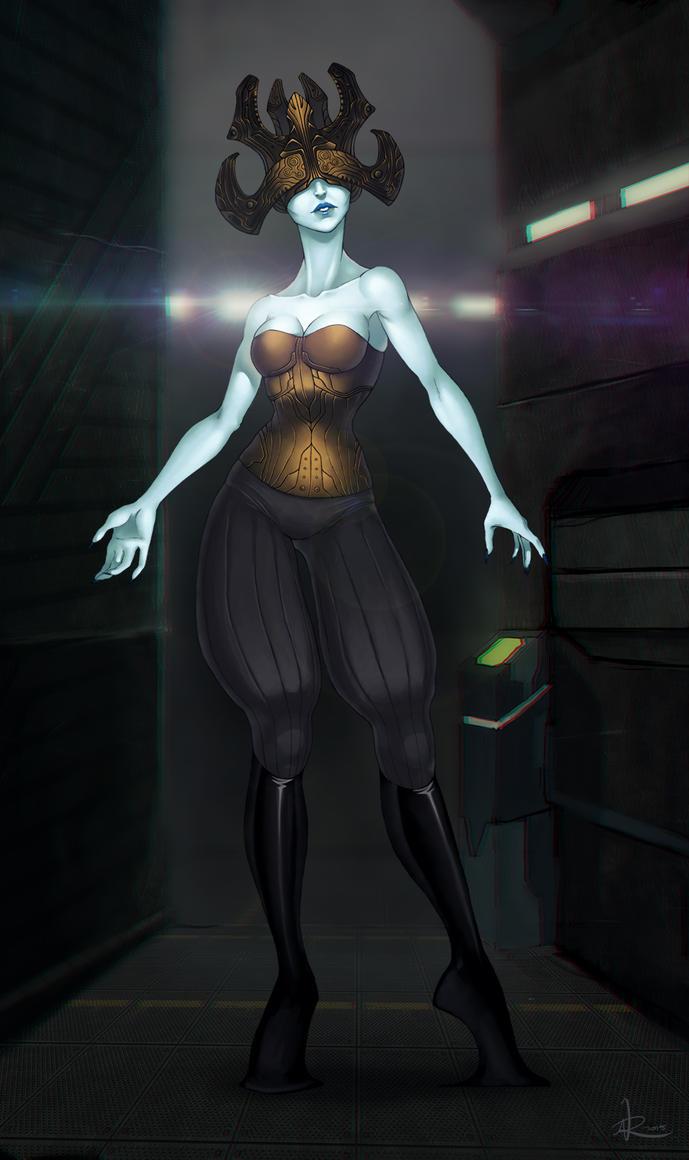 Alien Lady by MagicMushroomStudio