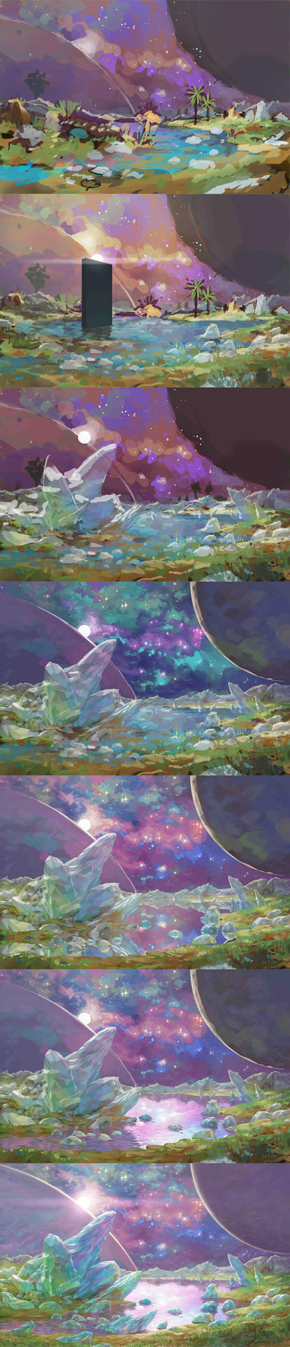 scene_crystal_steps by Qrumzsjem