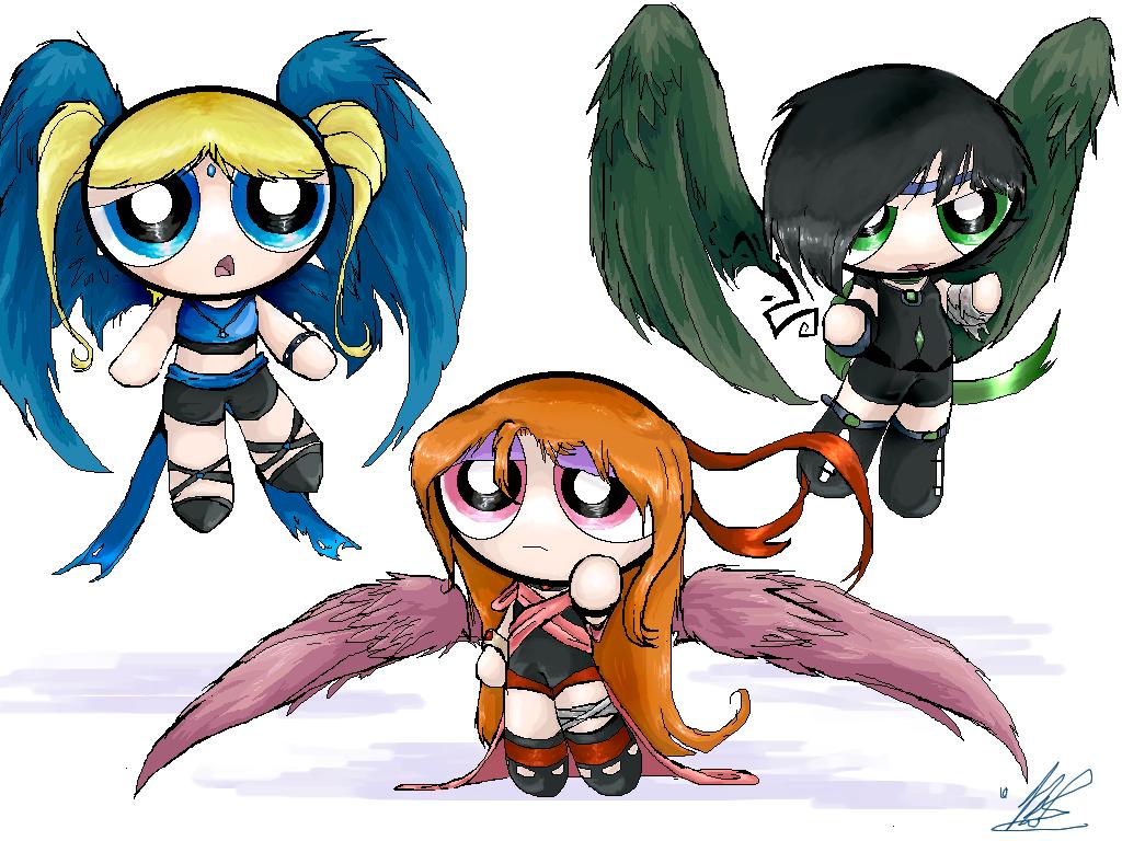 Alternate Powerpuff Girls by dragongirl