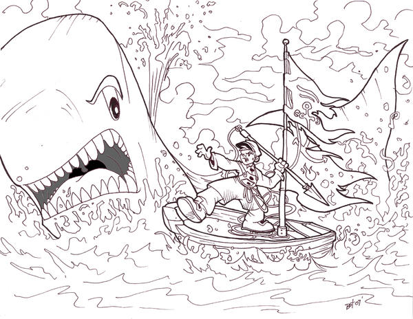 Pinochio and the Whale by btibke on DeviantArt