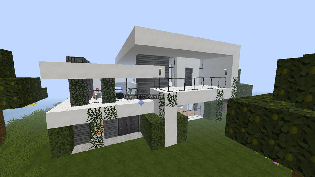 My awesome minecraft survival house by fr0zenwolf on for Amazing modern houses minecraft