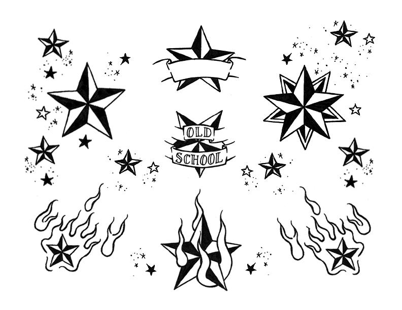 star tattoo nautical star flash