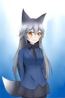 Silver Fox from Kemono Friends by Carollene