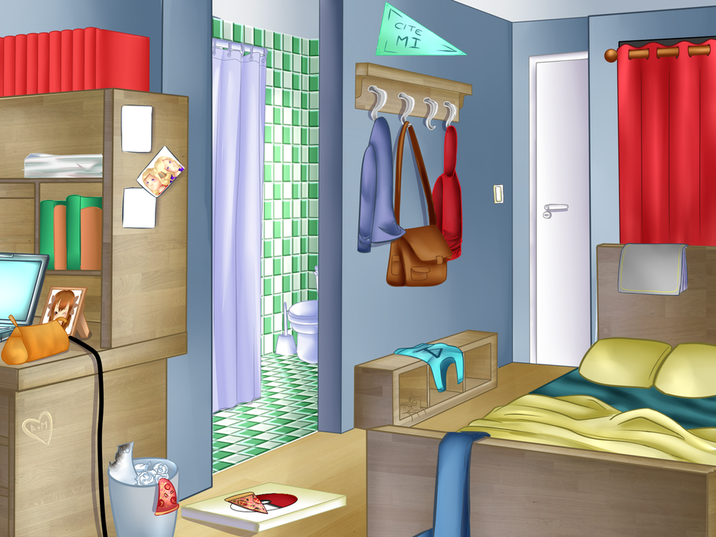 Mi chambre etudiant alex by talimsan on deviantart for Chambre etudiant 13