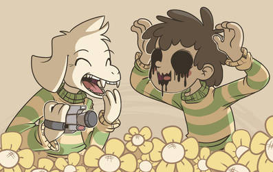 Chara and Asriel