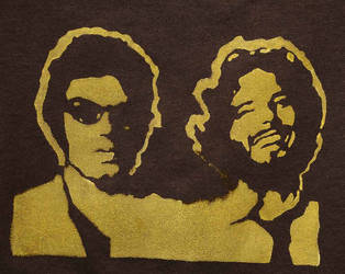 Flt. of the Conchords Stencil by stephlholley