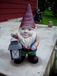 Uncle's lawn gnome.
