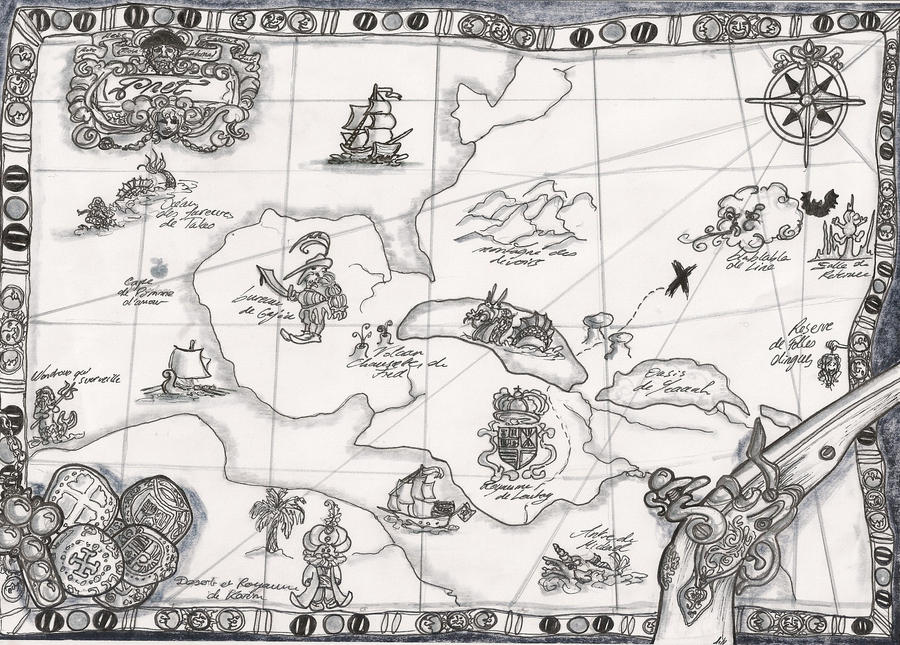 Carte chasse au tresors by lilybellules on deviantart - Carte chasse au tresor ...