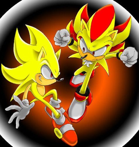 Super Sonic Vs Super Shadow Wallpaper By Sonic8546 On