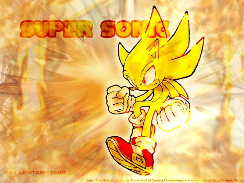 Super Sonic The Hedgehog By Wallpaper