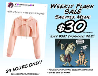 Weekly Flash Sale #2 (24 Hours ONLY!) by Squiggalaimon