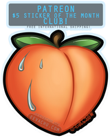 Sweaty Peach Sticker of the Month by Squiggalaimon
