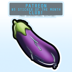 Drippy Eggplant Sticker