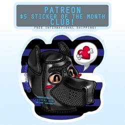 October 2019 Sticker (NSFW) - Pup hood