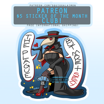 Sexy Plague Doctor - August 2020 Sticker