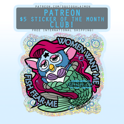 Mermaid Furby - November 2020 Sticker