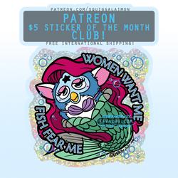 Mermaid Furby - November 2020 Sticker