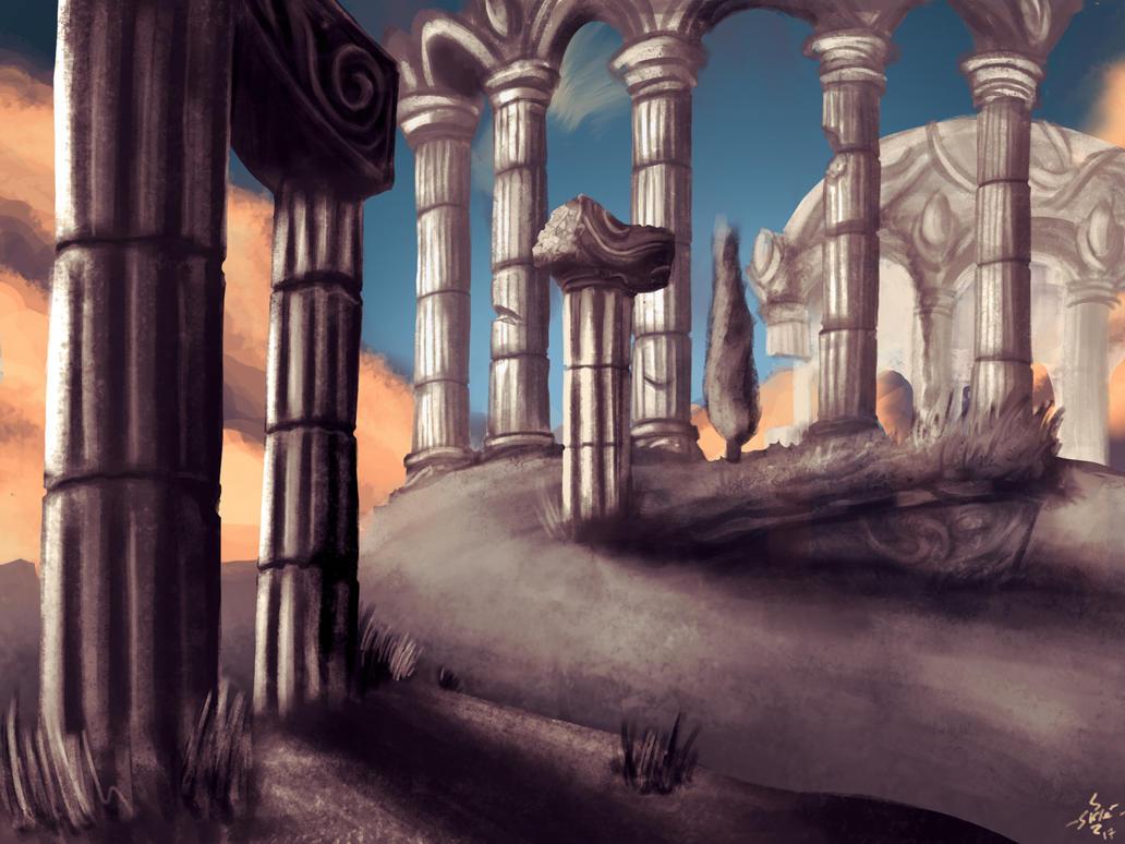 Azsuna ruins by sklelaplak