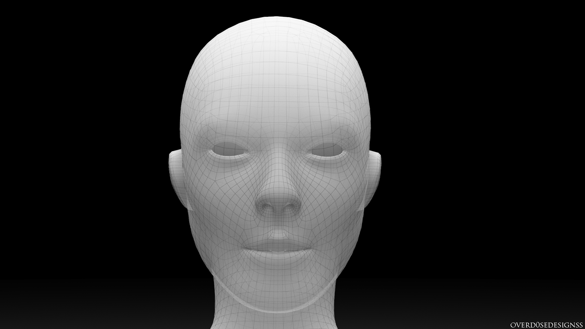 Robotic female Head ( Cinema 4d / Zbrush / Vray 3ds max ) - GamerX