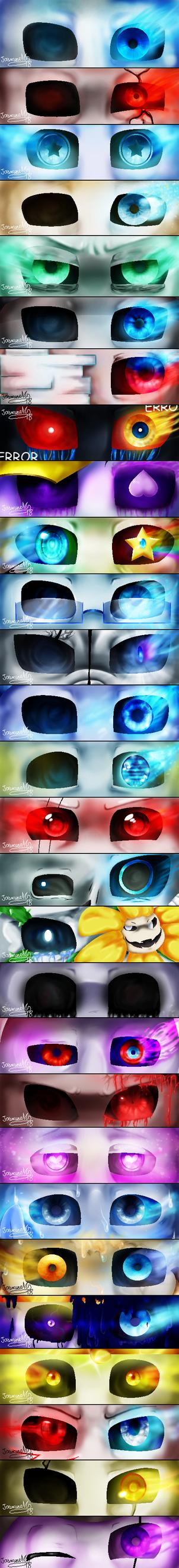 Sans AU eyes by JasmineM18