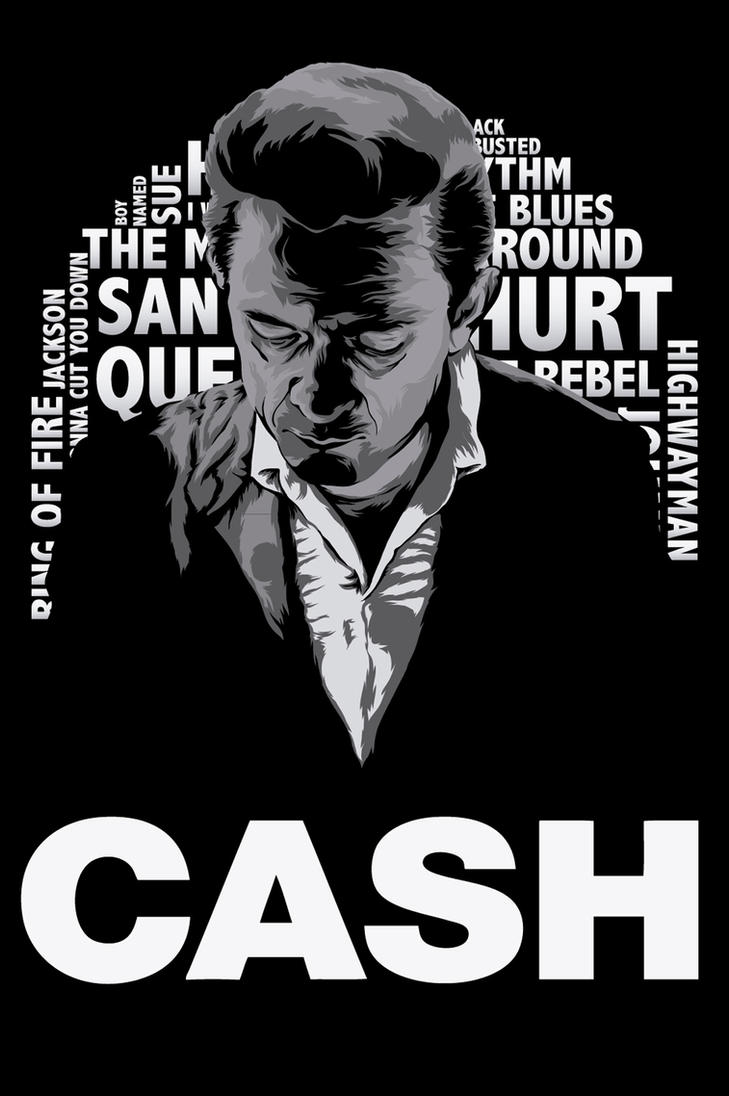 Johnny Cash Vector Johnny Cash poster by Charly-