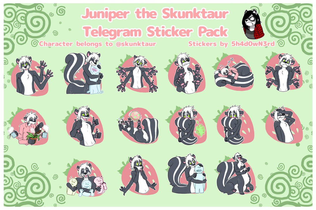 Juniper the Skunktaur Telegram Sticker Pack