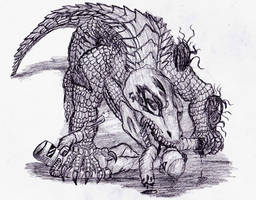 SCP - 682 Not Destroyed Yet by Stalc